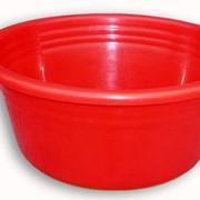 Таз пластмассовый большой красный фото