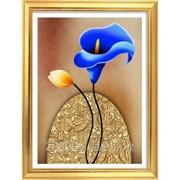"""Набор для рисования стразами """"Голубая калла"""" Y6107 фото"""