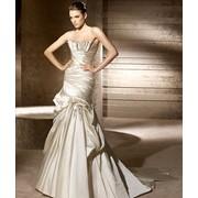 Свадебное атласное платье Refran рыбка фото