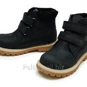 Черные нобуковые ботинки, арт. 1926-260516 фото