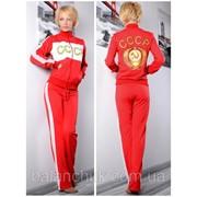 Спортивный костюм СССР красный фото