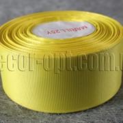 Лента репсовая желтая 4 см 25 ярд арт.15 3933 фото