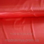 Ткань атласная однотонная (красная) фото