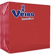 Veiro 2-слойные 25 листов красные 33х33 (Веиро) фото