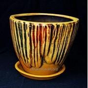 """Горшок для цветов из керамики ручной работы """"Водолей средний"""" фото"""