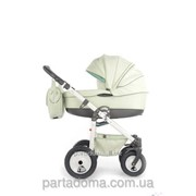 Детская коляска Tako ambre eco ,кожа 02 фисташковая кожа фото