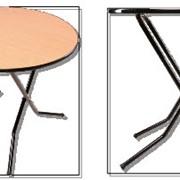Круглые столы из ДСП, тип ног - ривьера фото