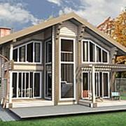 Двухэтажный дом из клееного бруса КБ-03, 138 м2 фото