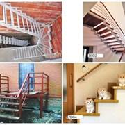 Лестницы на металлокаркасе фото