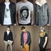 Мужская и женская одежда в ассортименте фото