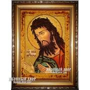 Святой Иоанн Креститель, Предтеча - Качественная Икона Из Янтаря, Ручная Работа Код товара: Оар-38 фото