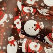 Трансфер для шоколада Снеговики фото