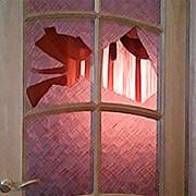 Замена стекла в межкомнатной двери. фото
