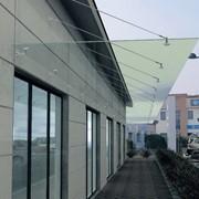 Проектирование стеклянного козырька | Проектирование навеса фото