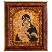 Икона Янтарная Владимирская Божья Матерь фото