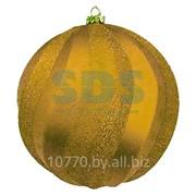 """Елочная фигура """"Шар Вихрь"""", 20 см, цвет золотой фото"""