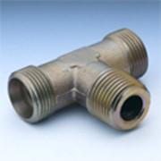 Резьбовое соединение для труб, резьба в тело дюймовая NPT, прямое, Т-образное, L-образное и угловое под 90 градусов фото