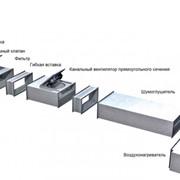 Вентиляция на основе вентиляторов для прямоугольных каналов фото