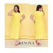 Платье женское желтое миди (7 цветов) ОМ/-5201 фото