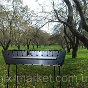 Раскладной мангал - чемодан на 12 шампуров фото
