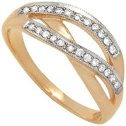 Кольцо с бриллиантами фото