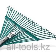 Грабли веерные Raco усиленные, 24 плоских зубца, эпоксидное покрытие , 600мм Код: 4231-53/741 фото