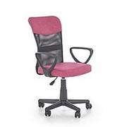 Кресло компьютерное Halmar TIMMY (розовый/черный) фото