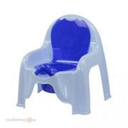 Горшок детский стульчик голуб. М-1326 фото