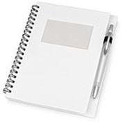 """Блокнот """"Контакт"""" с ручкой, белый фото"""