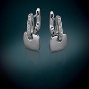 Серьги из серебра с бриллиантами Металл: серебро 925 Вес изделия: 9,9г. Вставка: бриллиант 16кр57-0,13-3/4 Цена: 4059 грн. Артикул: 79200199 пр-во ООО Всесвіт, Украина фото