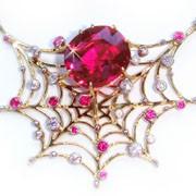 Паутина - ювелирные изделия из драгоценных и полудрагоценных камней фото