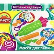 ABtoys Набор Масса для лепки. Готовим леденцы 4 шт баночек разных цветов с тематическими аксессуарами, 16 (089631) фото