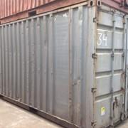 Серый морской контейнер №34 фото