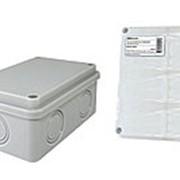 Распаячная коробка ОП 120х80х50мм, крышка, IP55, 6 вх., без гермовводов, инд. штрихкод TDM фото