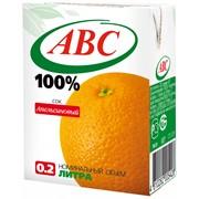 Cок 100% Апельсиновый, объем 0,2л фото