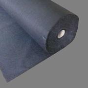 Флизелин 30г/м клеевой, цвет чёрный, ширина 150см (рул100м) фото