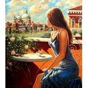 Пейзаж с видом Венеции, интерьерная картина лучший подарок. фото