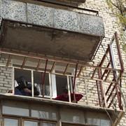 Демонтаж балконной рамы фото