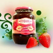 Клубника протертая с сахаром, Варенье клубничное на фруктозе, джемы фото