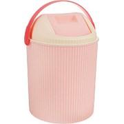Бак для мусора с крышкой, розовый (Изумруд) фото