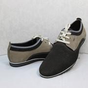 Туфли 2139 Элегантные туфли из натуральной кожи (нубук) в комбинации цветов. фото