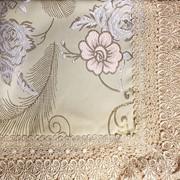 Скатерть с вышивкой и кружевным краем 2003 фото
