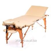 Стол массажный деревянный складной трех секционный Flagman. фото