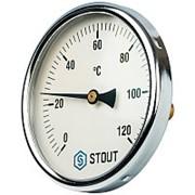 """STOUT Термометр биметаллический с погружной гильзой. Корпус Dn 100 мм, гильза 50 мм 1/2"""" фото"""