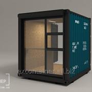 Переоборудование морских контейнеров в торговую точку фото
