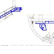 Машина погрузочная гидравлическая МПГ предназначена для погрузки разрушенной породы в скипа, при проходке наклонных тоннелей блокоукладчиками типа БНТ фото