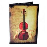 Обложка для паспорта из кожзама Скрипка