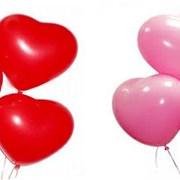 гелиевые сердечки, шары фото