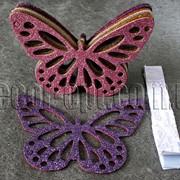 Бабочка(вырубка из полирезины с присыпкой) 15 см 7444 фото