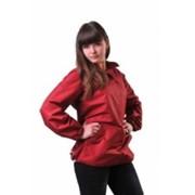 Куртка Анорак женская, бордовая фото